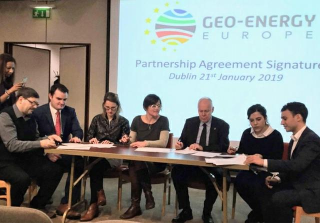o-Energy Europe cluster partnership agreement signed, Dublin - Jan 21, 2019