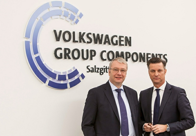 VW components bosses, Sommer, left, and Schmall