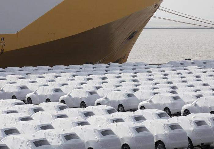 Cars at Emden port