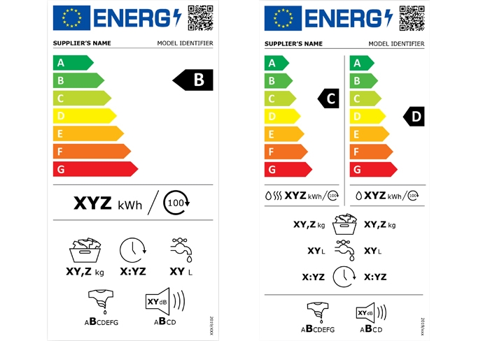 New EU energy labels for washing machines