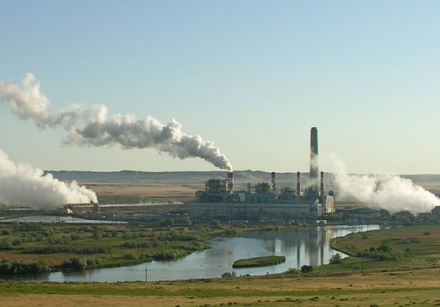 Dave Johnson coal-fired power plant, central Wyoming
