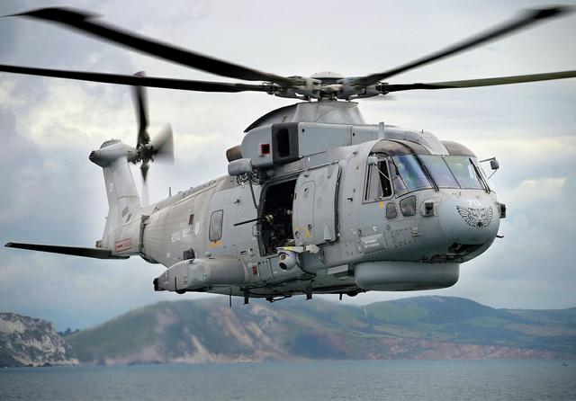 Leonardo AW101 helicopter