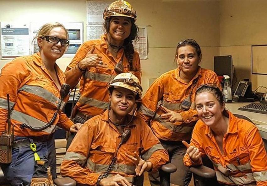 female miners