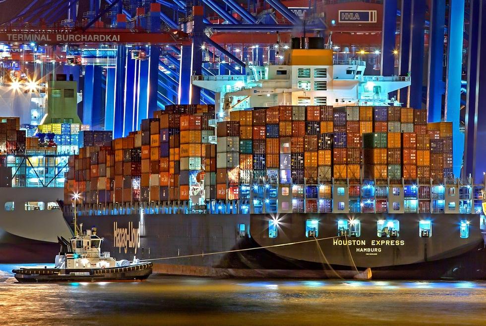 Cargo container Hamburg