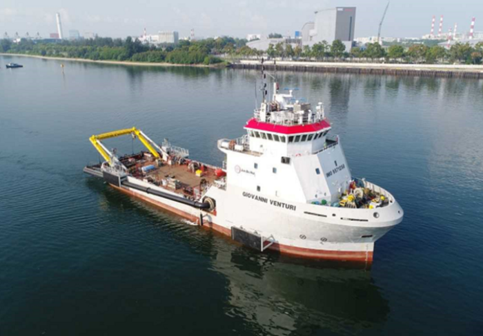 Jan De Nul water injection dredger