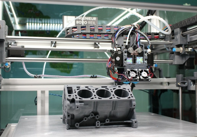 3D printing in vehicle parts