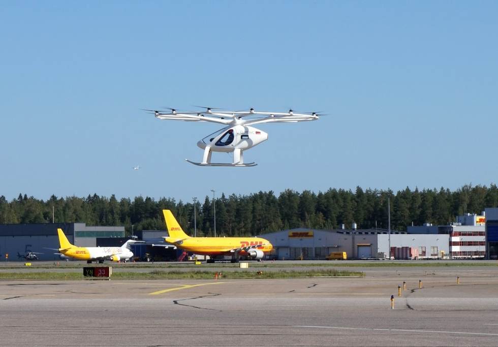 Volocopter test flight Helsinki