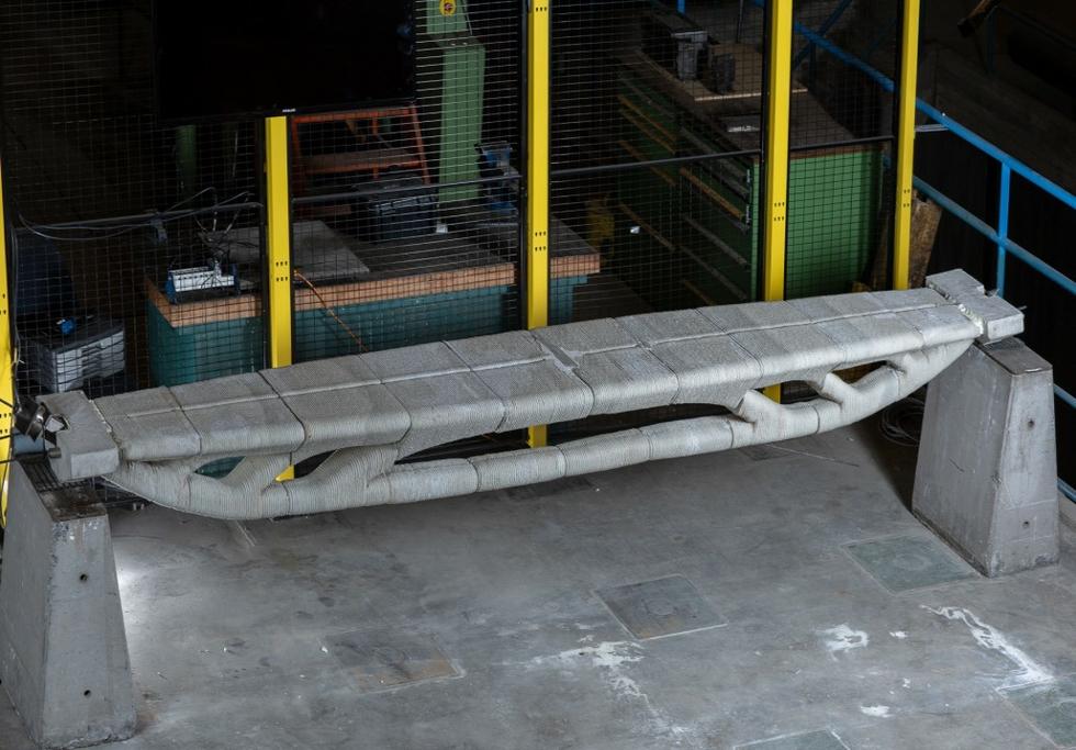Vertico constructs optimised 3D concrete printed footbridge