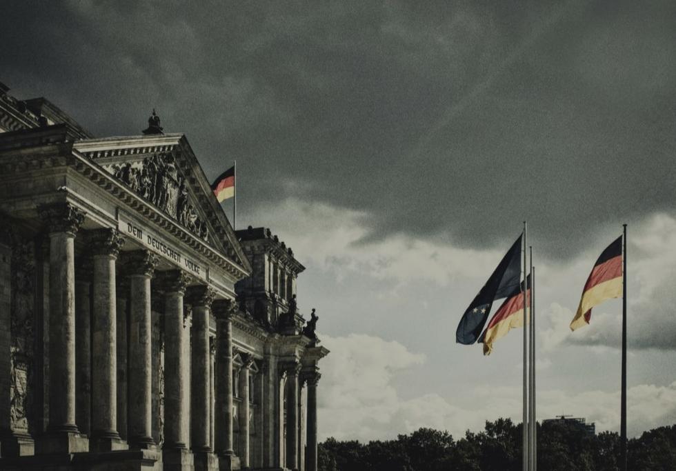 Reichstag rainy day