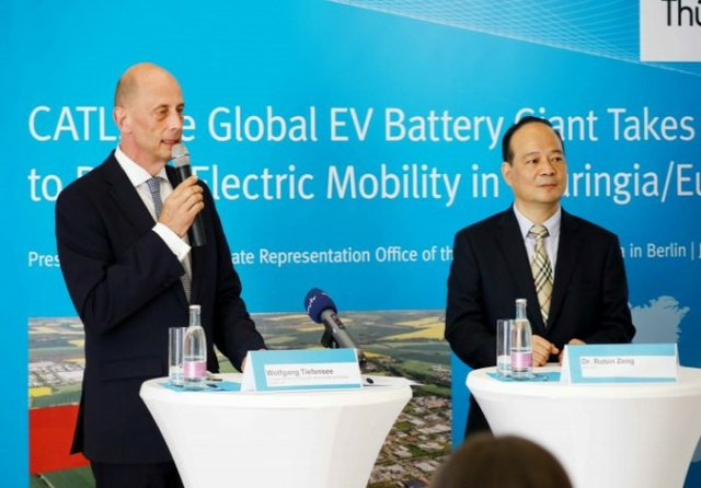 CATL breaks ground on first non-Chinese battery plant in Germany