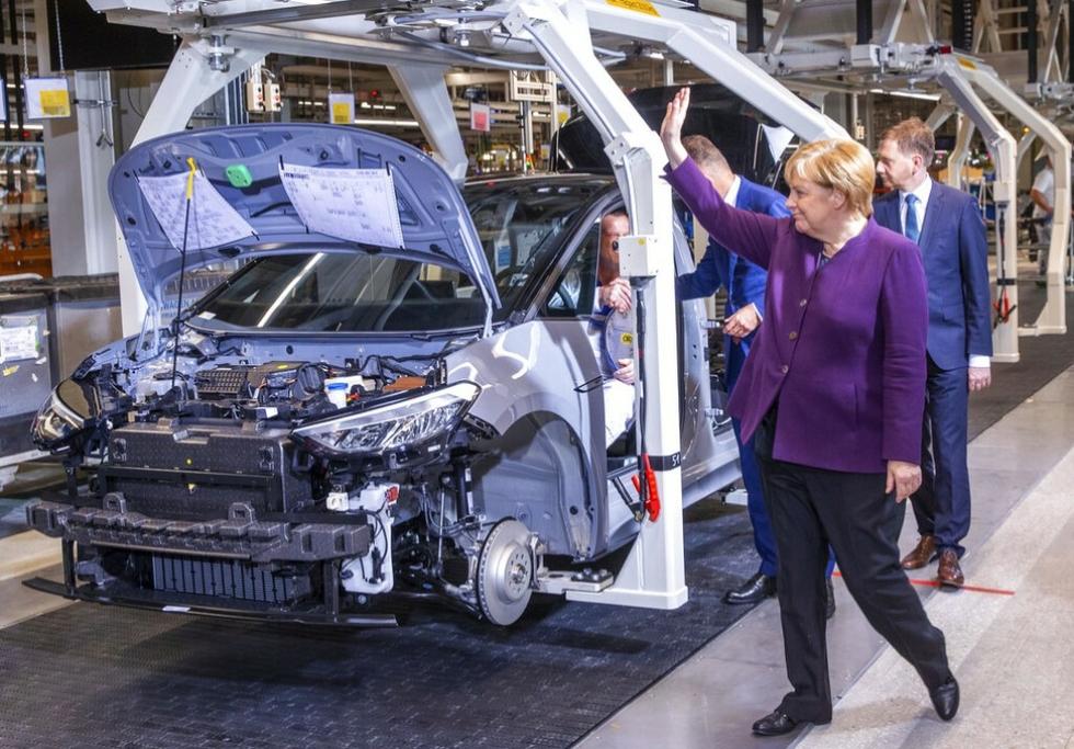Angela Merkel at VW