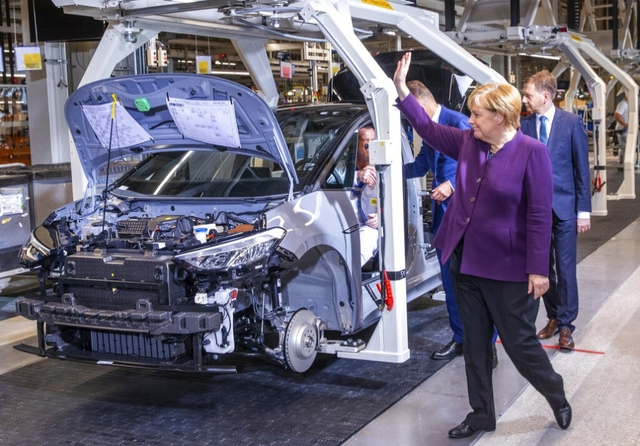 Angela Merkel at VW