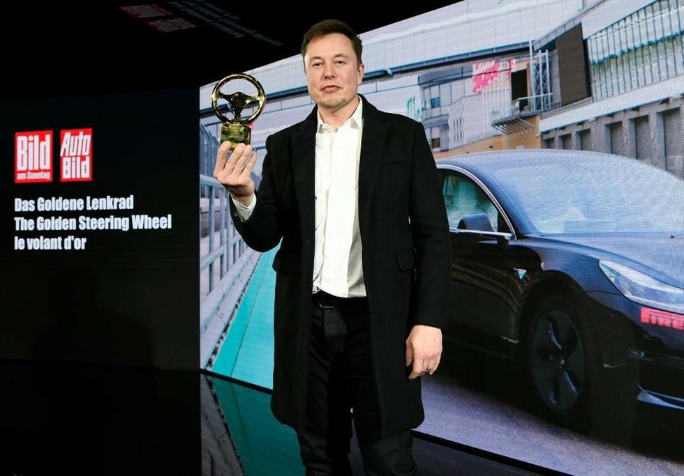 Elon Musk at the Golden Steering Wheel Awards 2019 in Berlin