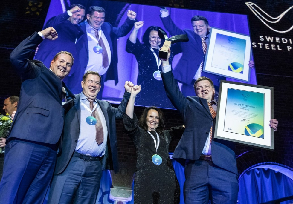 Shape Corp wins Swedish Steel Prize 2019