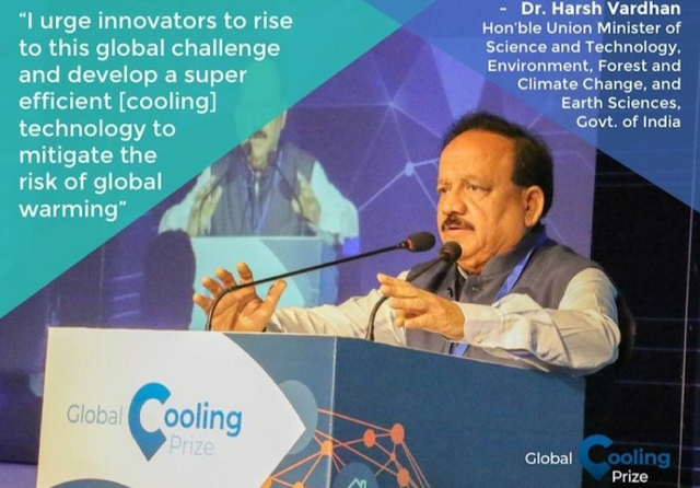 Dr Harsh Vardhan Global Cooling Prize