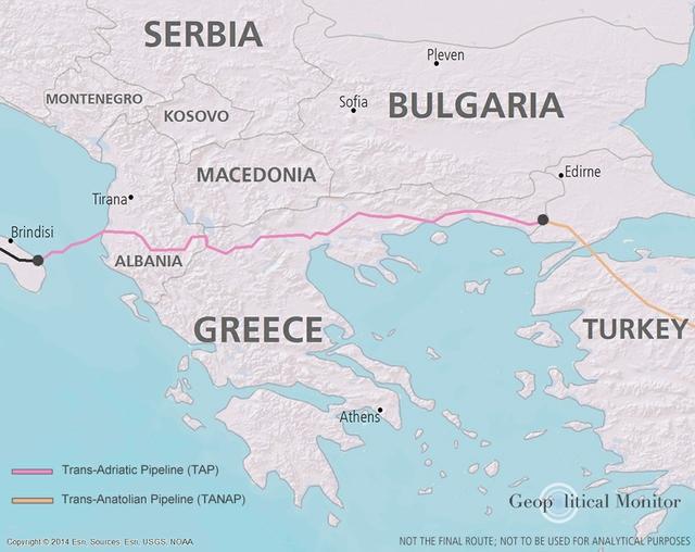 TAP Greece map