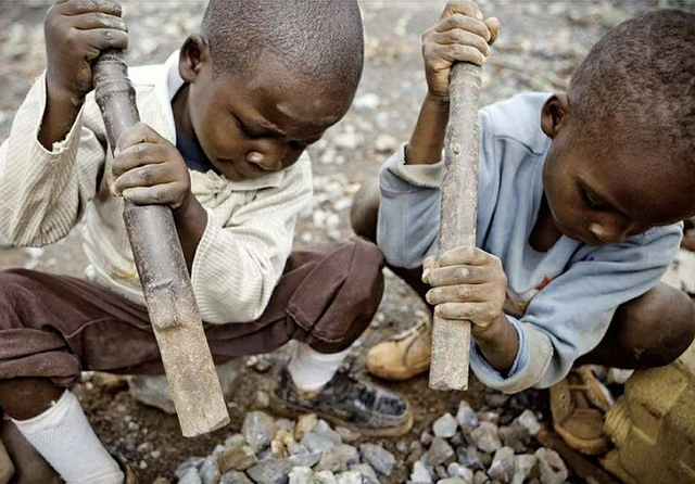 DRC child labour in mines