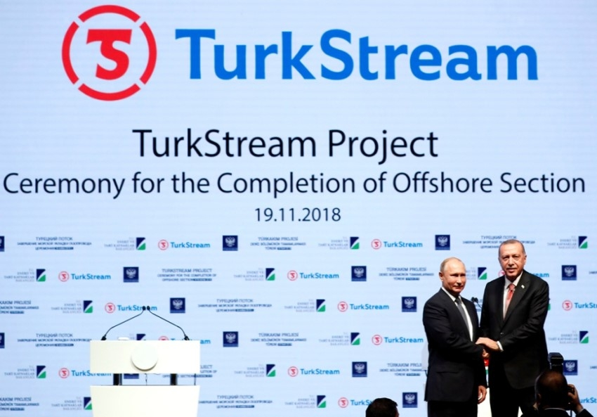 Putin & Erdogan at TurkStream project