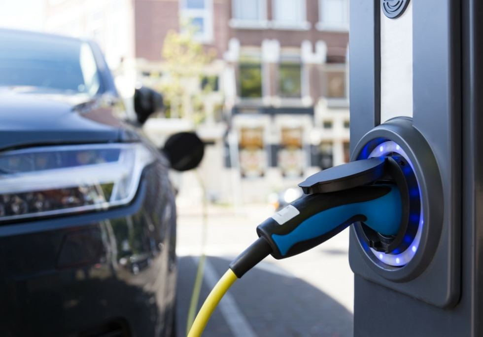 Electric car charging column