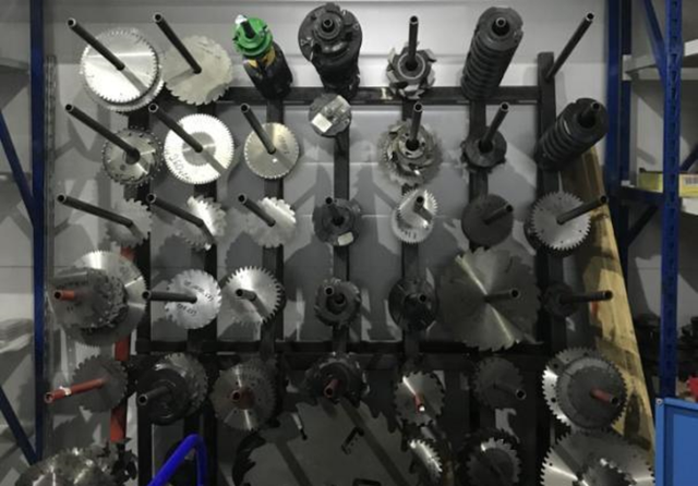 An array of cutting tools made by Green Tools