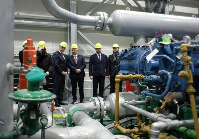 Croatia gas compressor station