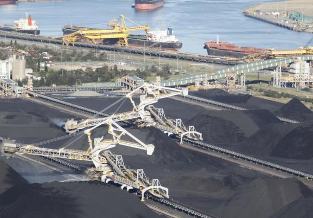 Yard operations at Port Waratah, Newcastle, Australia
