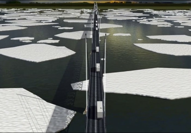 Lena River bridge artist's impression