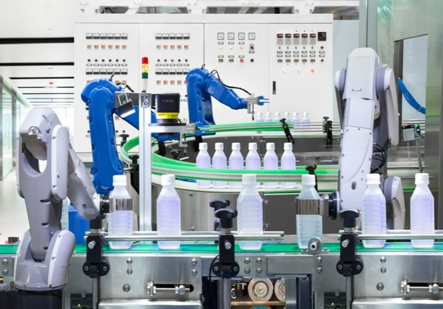 Chemical industry robots