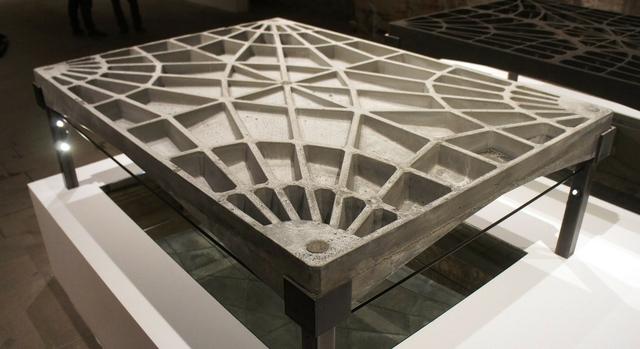 Fig 2: Unreinforced concrete funicular floor prototype. Block Research Group, ETH Zurich. Photo credit: Nick Krouwel