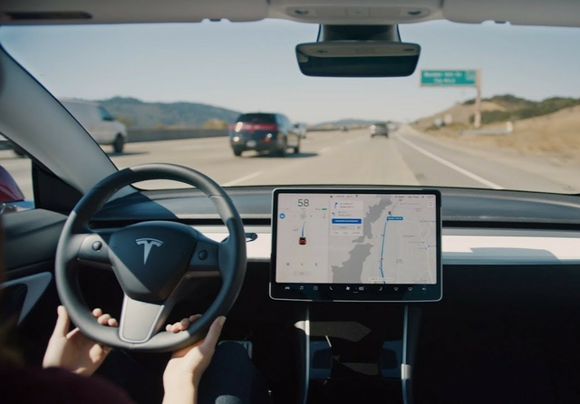 Tesla Model 3 on Autopilot