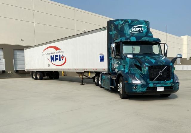 Volvo Trucks VNR Electric NFI Truck Trailer