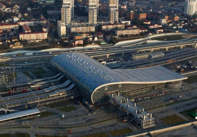 Adler railway station, Sochi, Russia