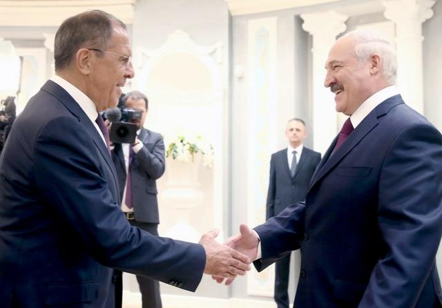 Sergey Lavrov & Alexander Lukashenko, Minsk, May 2018