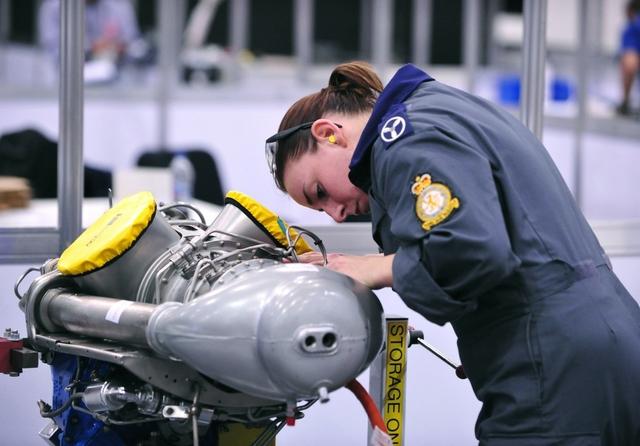 Aircraft maintenance. Credit: WorldSkills UK / Flickr
