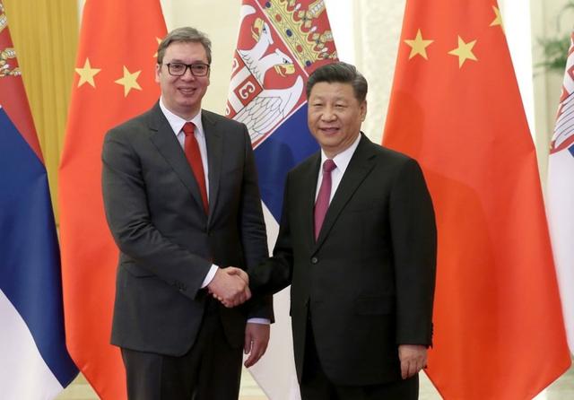 Aleksandar Vučić meets Xi Jinping. Credit: Xinhuanet