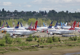 Grounded Boeing 737 Max. Credit: SounderBruce / Wikimedia