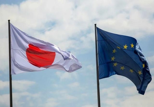 EU & Japan flags