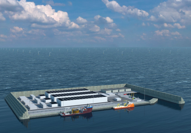 Denmark North Sea energy island hub