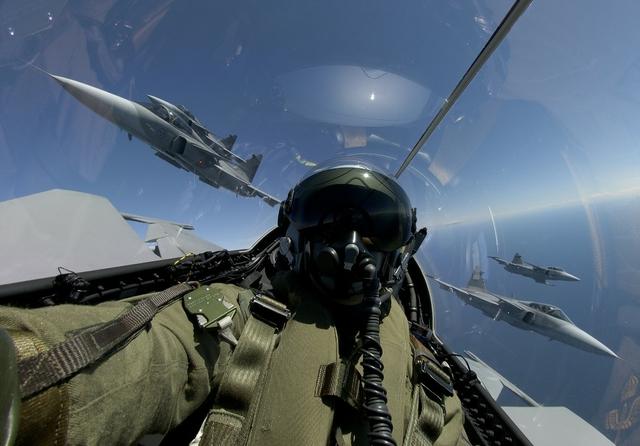 Saab's Gripen jet fighter. Credit: Katsuhiko Tokunaga/Saab AB