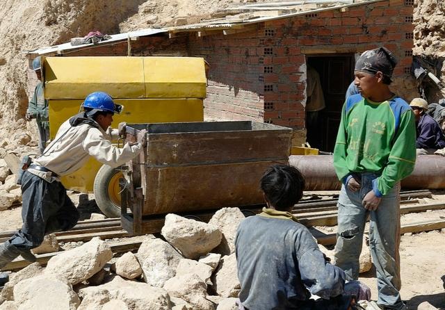 Miners at work, Potosi, Bolivia. Credit: Christophe Meneboeuf