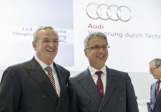 Martin Winterkorn & Rupert Stadler at the Audi General Meeting in Neckarsulm, 2013. Source: Audi AG / Flickr