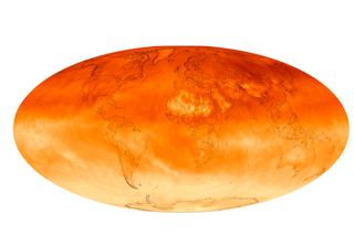 Monthly average atmospheric methane for January 2016. Source NASA