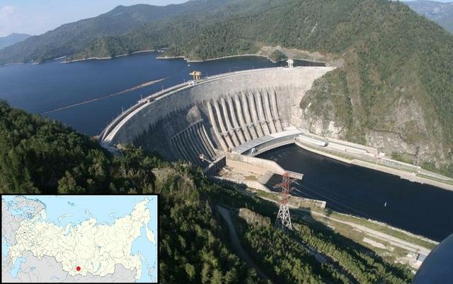 Sayano-Shushenskaya hydropower dam, Russia. Source: RusHydro
