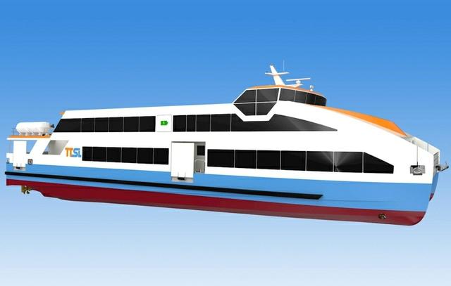 Astilleros Gondán all-electric ferry illustration