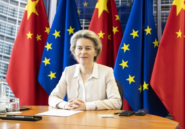 von der Leyen, EU-China virtual leaders' meeting. Source: Lukasz Kobus / EC - Audiovisual Service