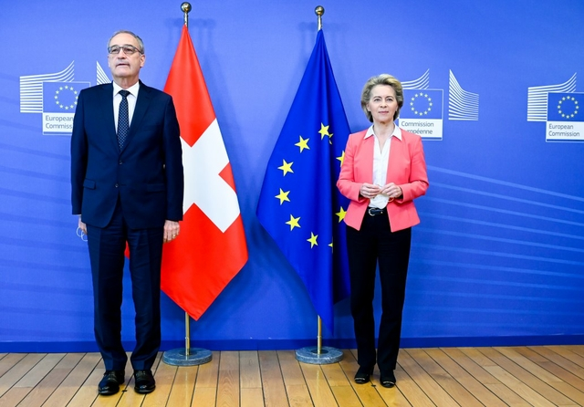 Guy Parmelin, President of the Swiss Confederation & Ursula von der Leyen, EC President. Source: European Commission