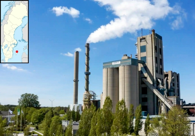 Slite cement plant, Sweden. Photo: HeidelbergCement