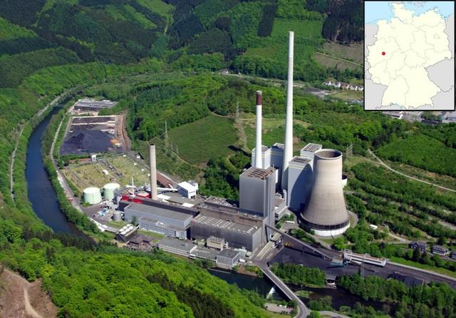 Coal-fired power station, Werdohl, Elverlingsen, Germany. Photo: Dr. G Schmitz