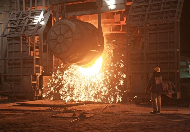 Steelmaking furnace in a factory in China. Photo: chinahbzyg / Shutterstock
