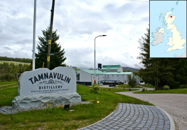 Tamnavulin Distillery, Scotland. Photo: Charlie Cavaye / Flickr. Licence: CC BY-NC-SA 2.0